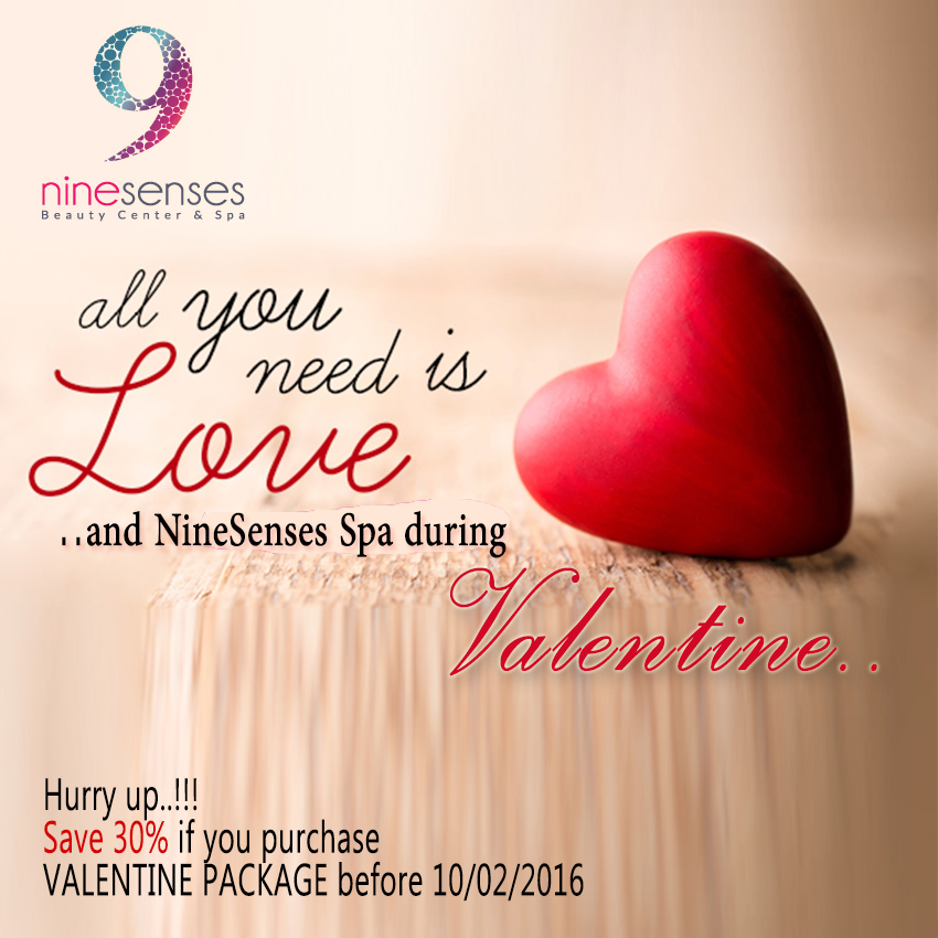 My Valentine Package Nine Senses Beauty Center Spa